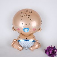 Wholesale lassic Toys Balloons Cartoon Baby Boy Bithday Party Decorations ST Birthday Party Supplier inflatable Foil Balloons Baby Showe