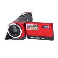 Wholesale HD p Mega Pixels Enhanced Digital Video Camcorder X Zoom Camera DV TFT LCD Rotation Touchscreen Video Recorder