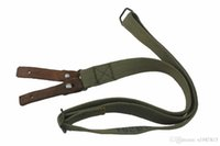 aks gun - AK AKS Heavy Duty Cotton Webbing Leather Point Rifle Gun Sling Accessories