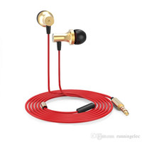 alloy metal products wiring - HIFI Music Earphone Headphone Headset With Remote Mic Aluminum Magnesium Alloy Metal Shell High Quality Products After Sales Support Perfect