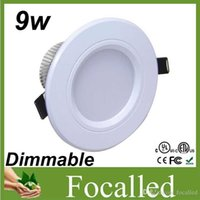 Wholesale 9w led dimmable downlights fixture Lights warm white cool white nature white ac v high quality freeshipping CE ROHS UL SAA Drivers
