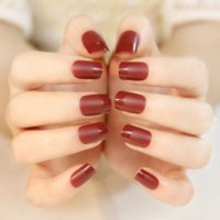 art retailers - Matte red false nail art decoration manicure tips false nails tips fake nails art accessory art basic art retailer