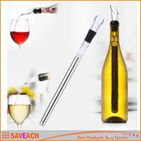 Wholesale Newest Practical Wine Cooler Stainless Steel Chiller Cooling Chilling Stick with Pourer High quality