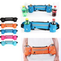 belt bottle - Waist Belt Sports Waist Pack Running Bag for iPhone inch or Below Hydration Belt Purse Case with Bottle Holder