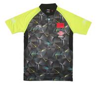 Wholesale 2016 Li ning CHINA table tennis shirt Men s Zhang Jike Ma Long jerseys Pingpong shirt tabe tennis wear shirt