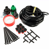 Wholesale Hot Sale M DIY Micro Drip Irrigation System Plant Self Watering Outdoor Garden Hose Kits with Connectors Adjustable Drippers