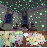Wholesale 100 Wall Glow In The Dark Stars Stickers Kids Bedroom Nursery Room Ceiling Decor