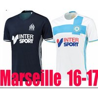 Wholesale 2016 top thai Olympique de Marseille Soccer Jersey home white black BATSHUAYI LASS Marseille survetement football maillot de foot