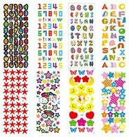 adhesive foam letters - 12designs mixed Self adhesive Cute D DIY Kids Foam Stickers Toy Children Digital Alphabet Letter Puffy Sticker boys or girls