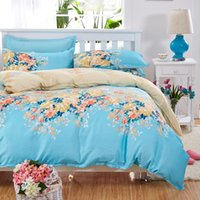 bedroom sets twin - flowers Bedding Set polyester Cotton Duvet Cover Bed Sheet Pillowcases Bedroom Textile Bed Linen King Queen Bed Set