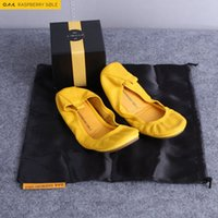 ballerina flats for women - 2016 Fashion Brand Designer Ballerina Shoe Women Leather Ballet Flats Shoes Rollable Foldable Travel Flat Pregnant Shoe For Lady