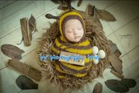 bee brand prop - Mohair bee bonnet and swaddle cocoon Newborn sack Baby photography prop Handknit baby hat and cocoon Mohair baby hat Baby sack