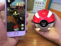 ar charger - 10000mah Poke Go Pokeball Power Bank Phone Battery Charger With LED Light For Poke Go AR Games Samsung S6 S7 DHL