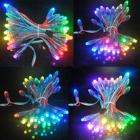 Wholesale 500PCS mm DC5V WS2811 Module Diffused Digital RGB LED Pixels Full Color Christmas IP68 Waterproof Outdoor Lighting LED Pixel Power Supply