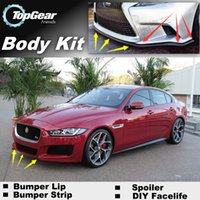 Wholesale Bumper Lip Lips For Jaguar XF DIY Front Skirt Deflector Spoiler For Car Tuning The Stig Recommend Body Kit Strip