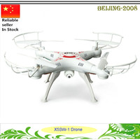 Wholesale X5SW WIFI RC Drone FPV Helicopter Quadcopter with HD Camera G Axis Real Time video recording RC Helicopter Toy