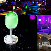 Wholesale High Quality Touch Control RGB W Color Changing W Wine Cup Table Lamp Night Club Decor Home Decor