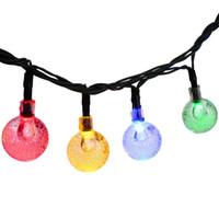 ball yard - LED Fairy Light ft LED Crystal Ball Waterproof Outdoor String Lights Solar Powered Globe Fairy Starry Lights for Garden Yard Home