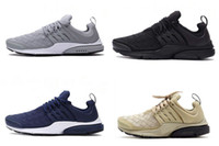 Wholesale Drop Shipping Cheap Famous Air Presto SE Woven All Black Wolf Grey Kid Boys Men Running Shoes Sneaker Trainers size