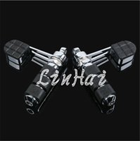 Wholesale Motorcycle Chrome Foot Rest Stirrup Heel Rest Footpegs Skull Footrest Foot peg Fits For Harley Sportster Model Dyna