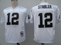 Wholesale classic american football jersey STABLER men jerseys adult shirts throwback shirt vintage tops retro top white black