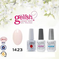 Wholesale Harmony Gelish Top and Base coat LED UV Gel nail polish foundation Top it off Nail art lacquer Soak off nail gel