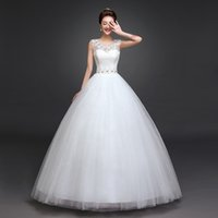 belt vintage sale - Hot Sale Double Shoulder Sexy Lace Crystal Wedding Dress Vintage Belt Vestido De Noiva Plus Size Bridal Dress