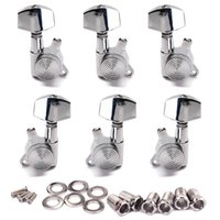 acoutic guitar - 3L3R Lock Style Tuning Pegs Key Tuners Machine Heads Chrome High Quality Guitar Parts Accessories for Acoutic Electrical Guitar