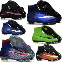 aa beige leather - Neymar Hypervenom Phantom II FG Mens Junior Soccer Boots High Tops Soccer Cleats Magista Obra FG Soccer Shoes Ankle Football Boots Cheap
