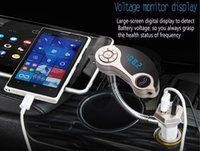 Wholesale GT86 Car MP3 Players Bluetooth Car Kit Hands free for clone S7 edge huawei P9 doogee X5Dual USB Charger Wireless FM Transmitter with Compa