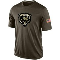 bears t shirts - Bears T Shirts cheap rugby football jerseys Chicago Salute To Service Banner Wave Black Gold Collection Tshirts freeshipping