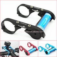 bicycle extension bar - Bicycle Light Mount Extension Installation TrustFire HE01 Bicycle Handle Bar Extender Mount Bracket Holder Red Black Blue