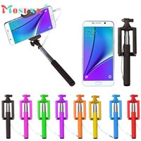 Wholesale Hot sale MOSUNX cm Selfie Sticks Gifts Mini Extendable Handheld Stick Holder Monopod For iPhone amp Android Phone