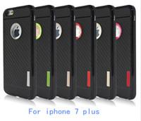 Para Iphone 7 más la caja híbrida de la armadura para la contraportada de choque a prueba de choques de la caja de la fibra del carbón de la NOTA 7 de la galaxia de Samsung 300pcs OPP