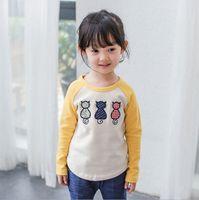 animal little boy - Cartoon T shirt three little kittens fashion tops of T girls lovely pullovers autumn new arrival