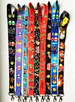 anime mobile phone strap - New Mixed Cartoon Anime Super Mario LANYARD mobile phone chain KEYS ID Neck straps Free