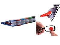 Wholesale 1Pcs Mini Portable Handle Eyeglass Sun Glasses Microfiber Spectacles New Cleaner Clean Wipe Spectacle Tools