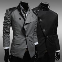 asian male fashion - Hot selling Casual suit male slim blazer coat fashion commercial single suit man spell color jacket M XL asian size