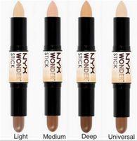 Wholesale NEW HOT NYX Wonder stick highlights and contours shade stick Light Medium Deep Universal freeDHL shipping