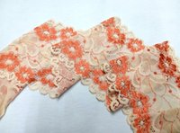 apricot flowers - Promotion New Cording Lace Trims Fabric Flower Lace Apricot Colors Spandex Scalloped Width quot Elastic African Fabrics For Dress JIAOLUN