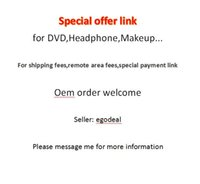 area offers - Special offer link for DVD Headphone Makeup For shipping fees remote area fees special payment link for Oem order from egodeal