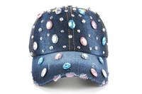 La nueva marca de fábrica caliente al por mayor cupieron los casquillos ocasionales de los sombreros del snapback de los deportes al aire libre de la gorra de béisbol del sombrero del diamante del Rhinestone para