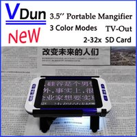 aids video - 2016 The Newest Portable Digital Magnifier Low Vision Electronic Visual Aids Video Microscope USB SD Card AV Out VD LE1