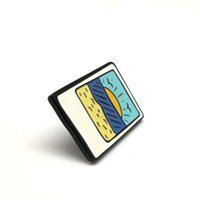 Unisex american indian painting - rectangle shape colorful alloy painting badge pin metal pin badge for wallet and bags decoration