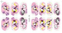 Wholesale Christmas Halloween S series full stick posted green nail polish Sticker Decal