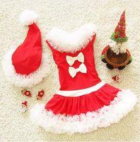 Wholesale infant girl swimwear red christmas princess dress swimwear children girls cute bathing suits for kids princess bathing suit