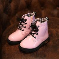 Wholesale Korean Flats Boots - Winter Children Shoes Kids Boys Girls Shoes Child Thick Martin Boots Korean Style Children Snow Boots TF5001