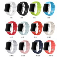 Wholesale 2016 new Silicone Band With Connector Adapter iWatch mm mm wearables Straps For smart watch connector adapter watchband