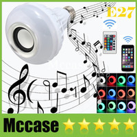 For Samsung audio suit - 2016 Hot Seller Smart Speaker Wireless Bluetooth Remote Control LED RGB Color Bulbs Lights Lamps E27 Music Audio Speaker Suit for iphone
