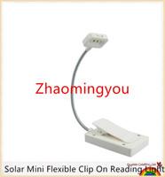 mini solar light garden - YON Solar Mini Flexible Clip On Reading Light Solar USB Charging Lamp Solar Powered Reading Emergency Light Table Lamp For Reader